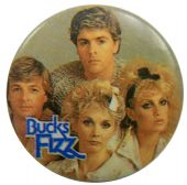 Bucks Fizz - 'Group Heads' Button Badge